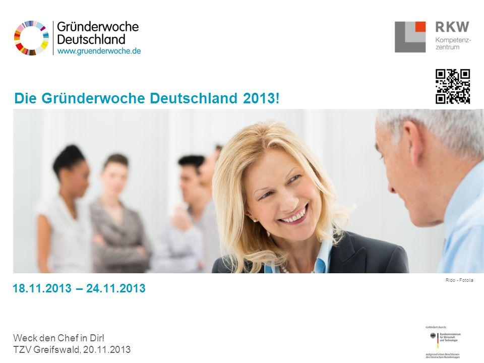 Die Gründerwoche Deutschland 2013!