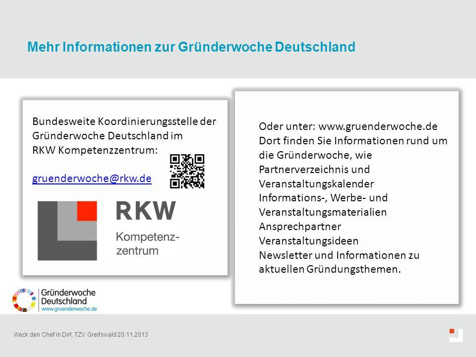 Mehr Informationen zur Gründerwoche Deutschland