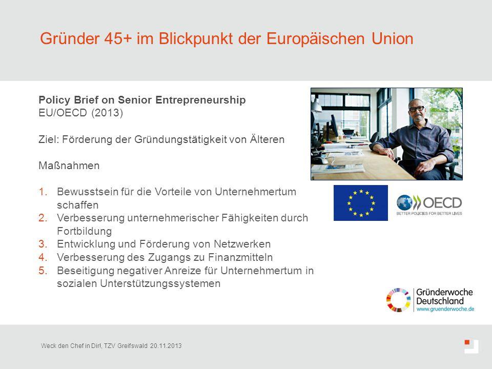Gründer 45+ im Blickpunkt der Europäischen Union