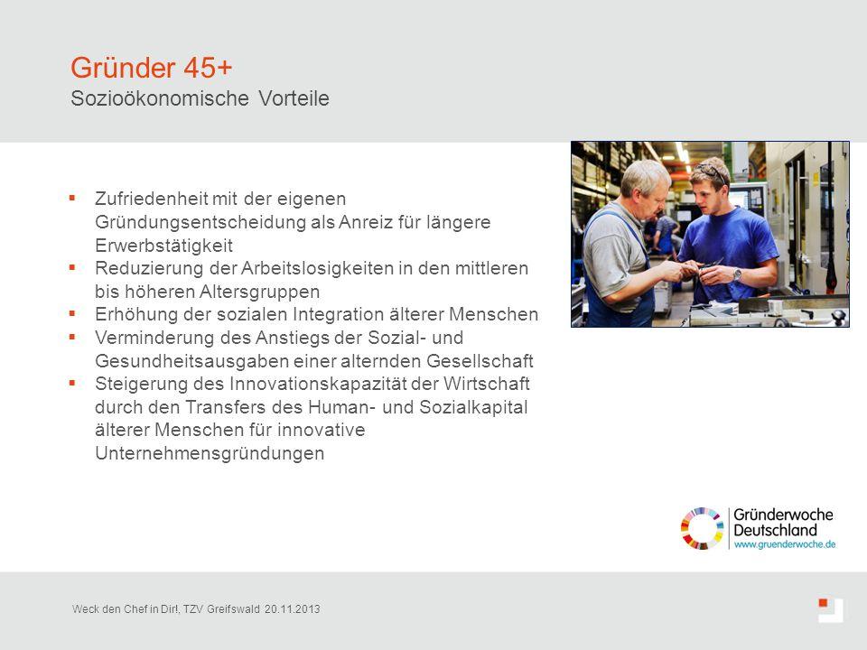 Gründer 45+ Sozioökonomische Vorteile