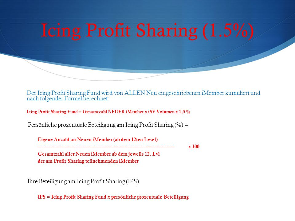 Icing Profit Sharing (1.5%)