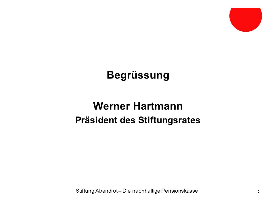 Präsident des Stiftungsrates