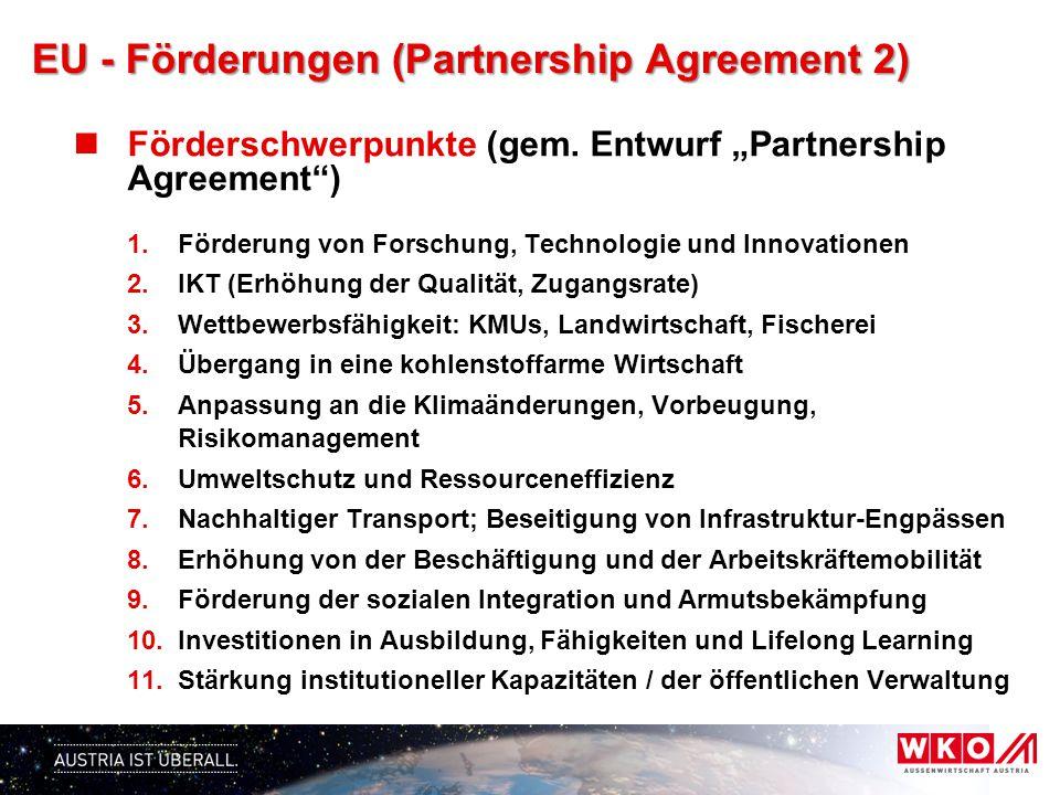 EU - Förderungen (Partnership Agreement 2)