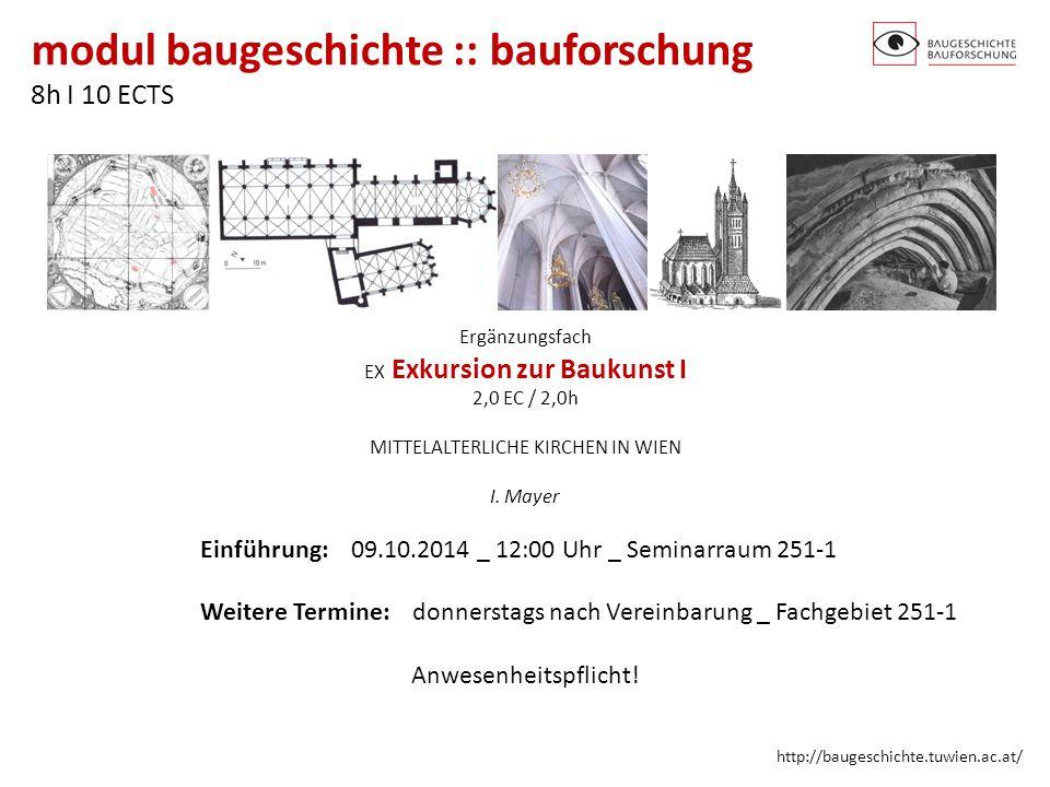 Einführung: 09.10.2014 _ 12:00 Uhr _ Seminarraum 251-1