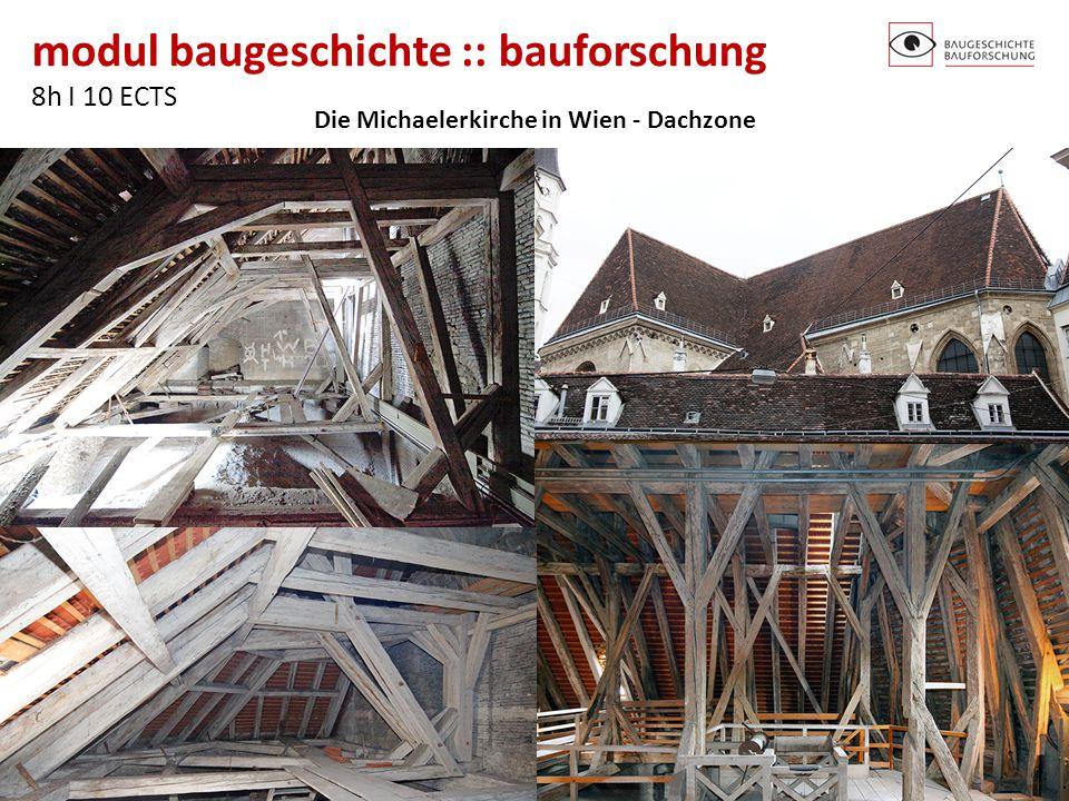 Die Michaelerkirche in Wien - Dachzone