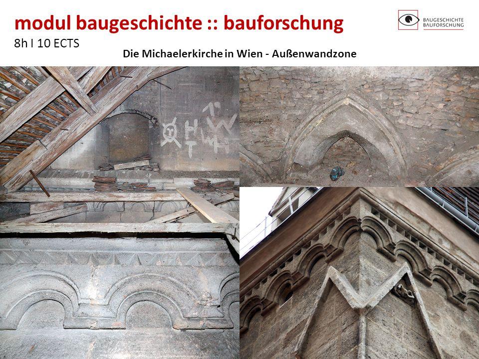 Die Michaelerkirche in Wien - Außenwandzone