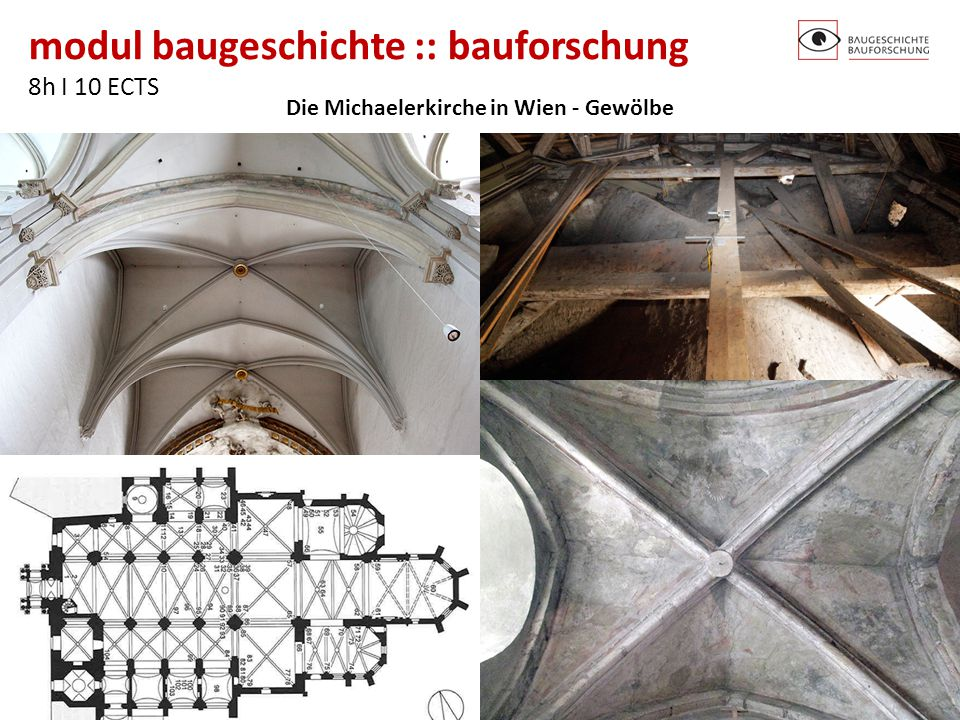 Die Michaelerkirche in Wien - Gewölbe