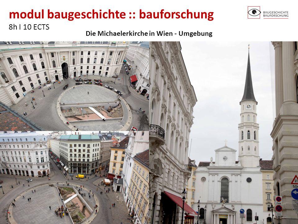 Die Michaelerkirche in Wien - Umgebung