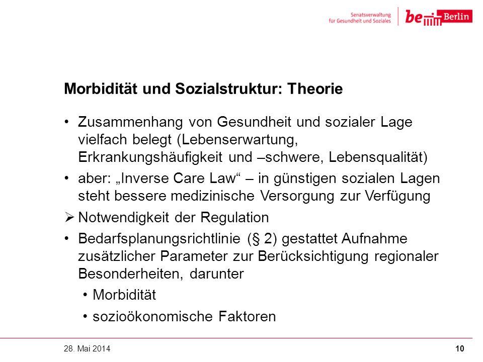 Morbidität und Sozialstruktur: Theorie