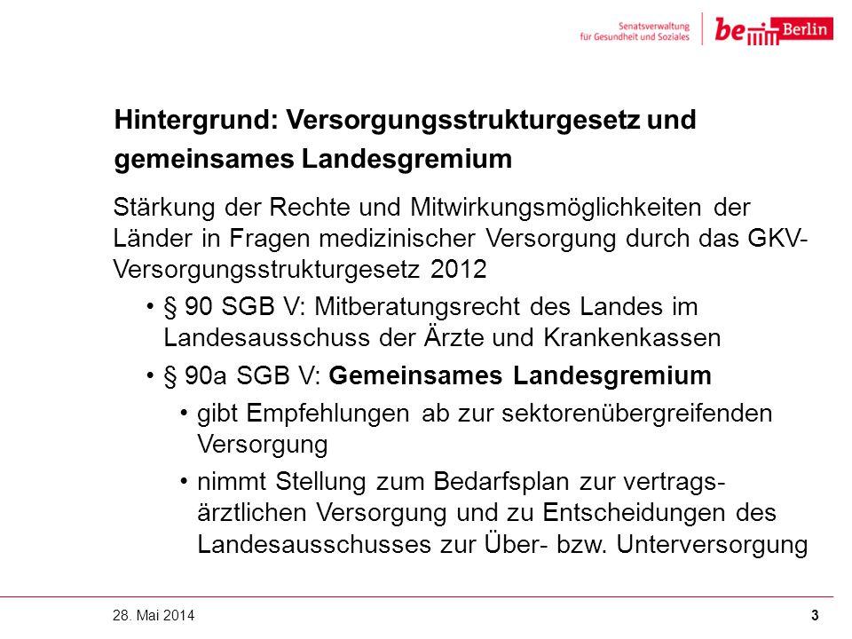 Hintergrund: Versorgungsstrukturgesetz und gemeinsames Landesgremium