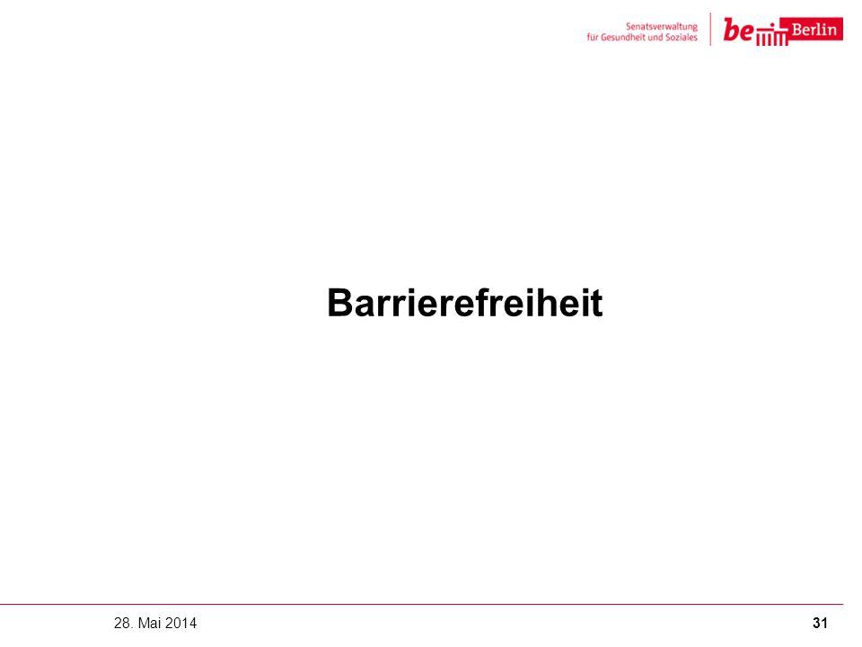 Barrierefreiheit 28. Mai 2014