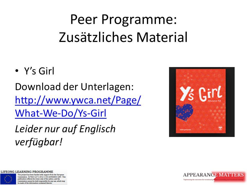 Peer Programme: Zusätzliches Material