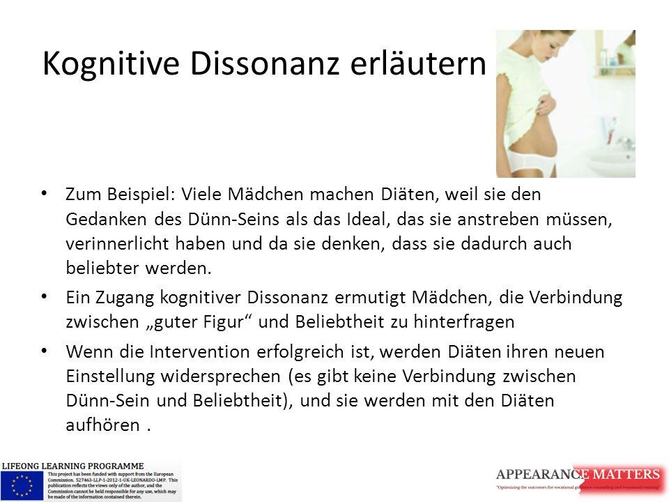 Kognitive Dissonanz erläutern