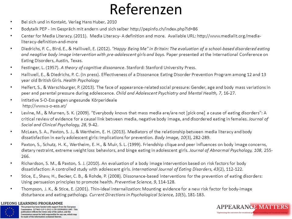 Referenzen Bei sich und in Kontakt, Verlag Hans Huber, 2010