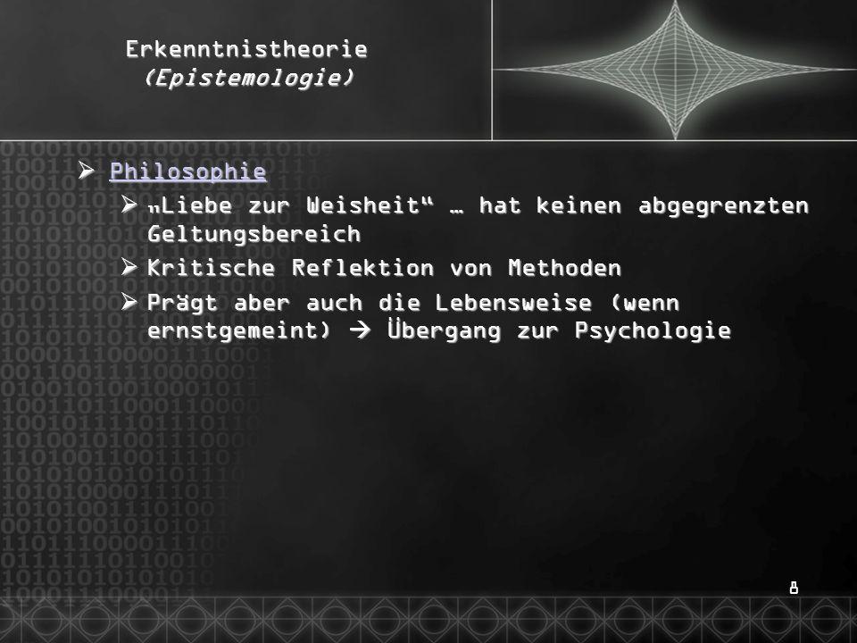 Erkenntnistheorie (Epistemologie)