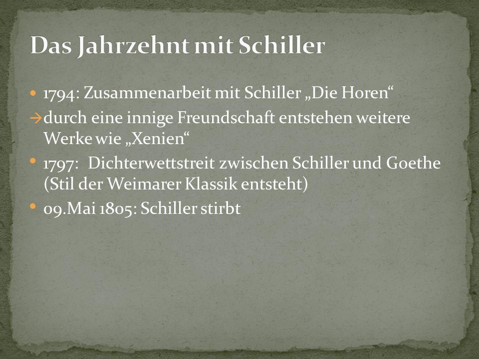 Das Jahrzehnt mit Schiller