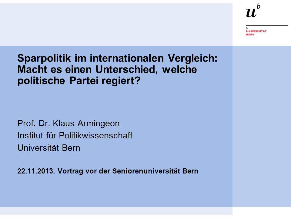 Sparpolitik im internationalen Vergleich: Macht es einen Unterschied, welche politische Partei regiert