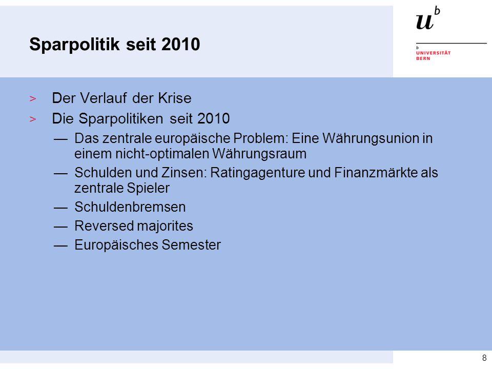 Sparpolitik seit 2010 Der Verlauf der Krise