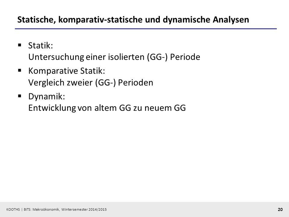 Statische, komparativ-statische und dynamische Analysen