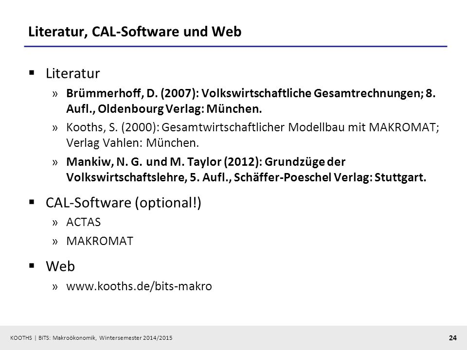 Literatur, CAL-Software und Web