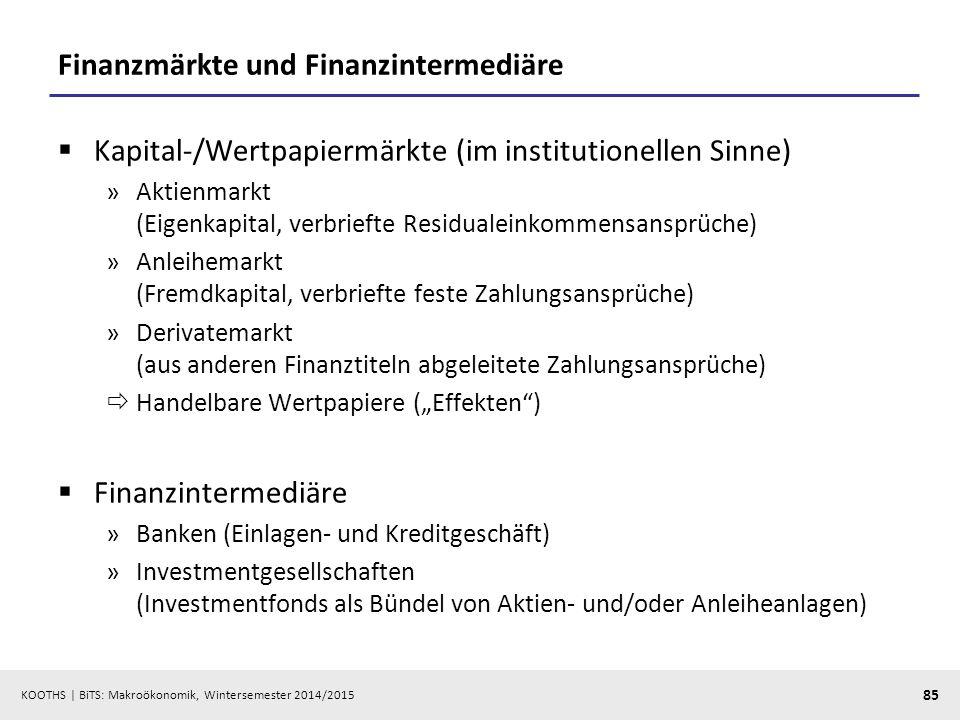 Finanzmärkte und Finanzintermediäre