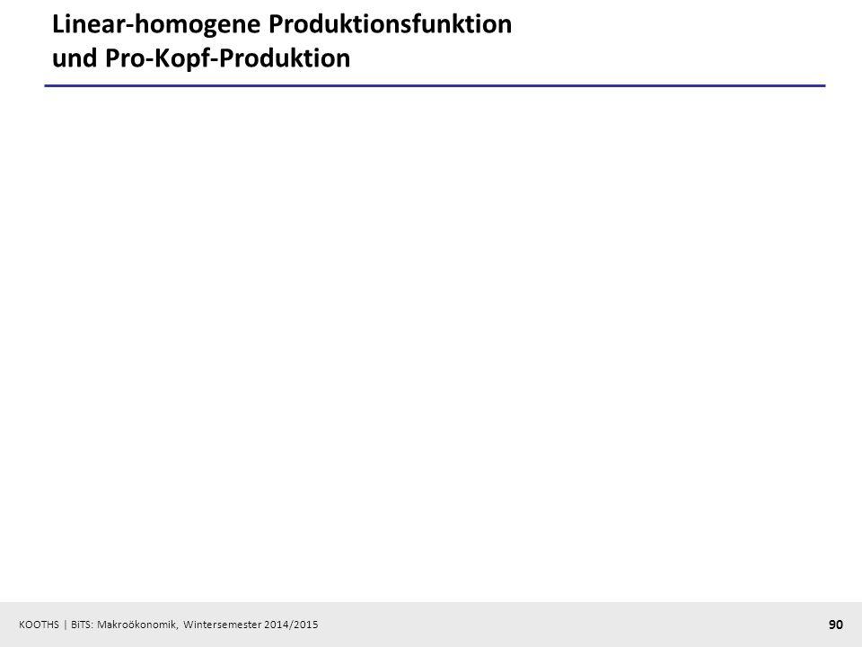 Linear-homogene Produktionsfunktion und Pro-Kopf-Produktion