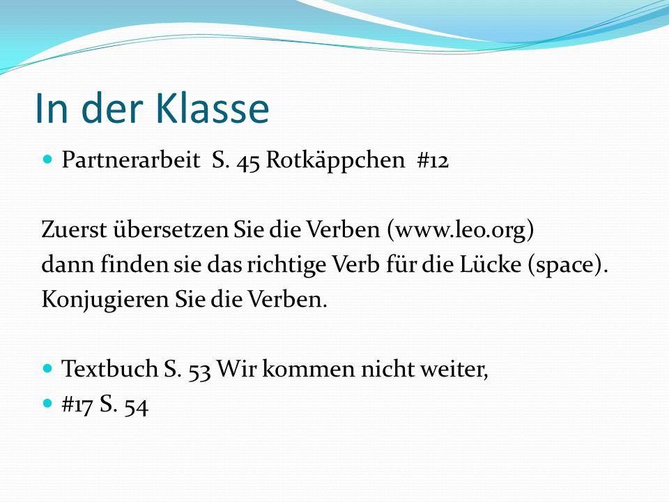 In der Klasse Partnerarbeit S. 45 Rotkäppchen #12
