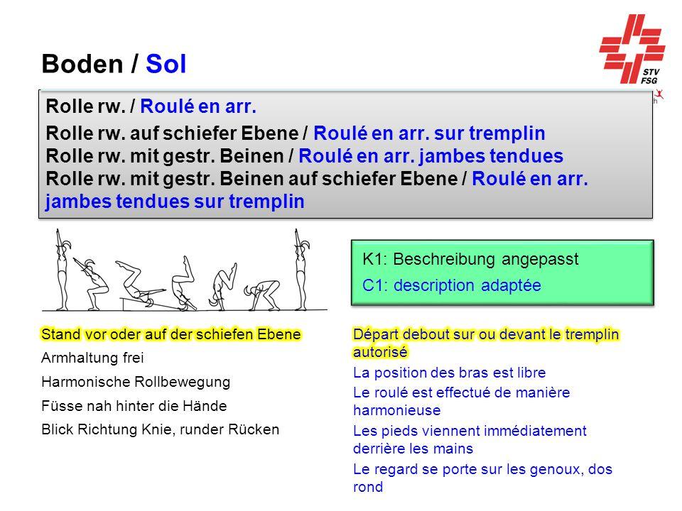 Boden / Sol Rolle rw. / Roulé en arr.