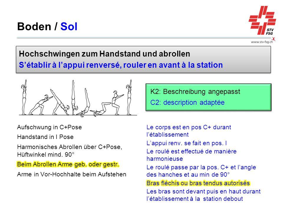 Boden / Sol Hochschwingen zum Handstand und abrollen