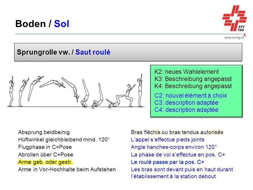 Boden / Sol Sprungrolle vw. / Saut roulé