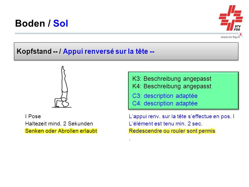 Boden / Sol Kopfstand -- / Appui renversé sur la tête --
