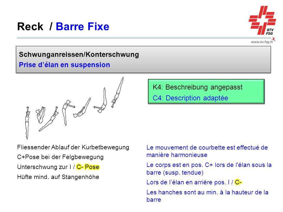Reck / Barre Fixe Schwunganreissen/Konterschwung