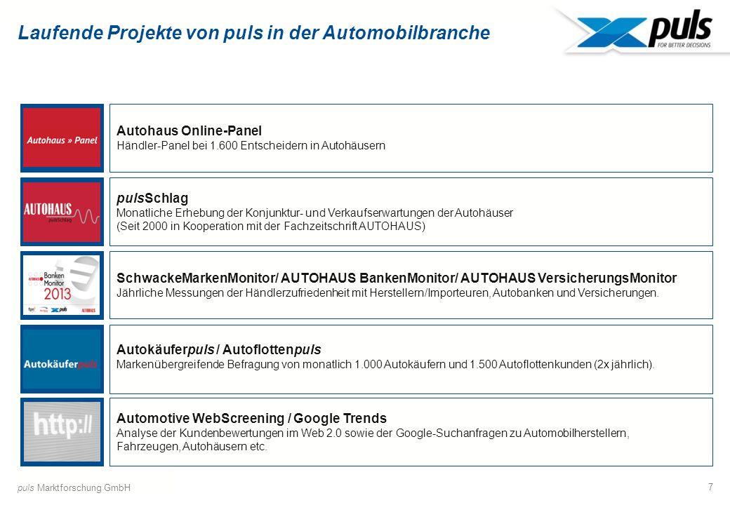 Laufende Projekte von puls in der Automobilbranche