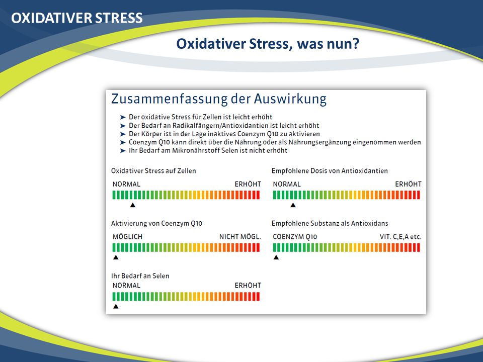 Oxidativer Stress, was nun