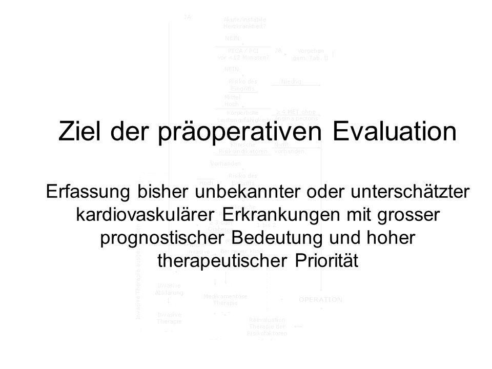 Ziel der präoperativen Evaluation