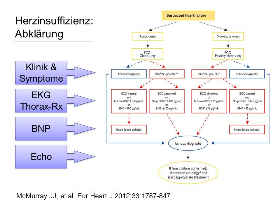 Herzinsuffizienz: Abklärung
