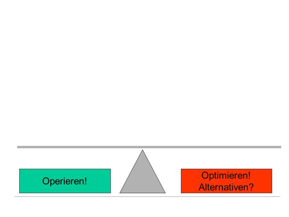 Optimieren! Alternativen