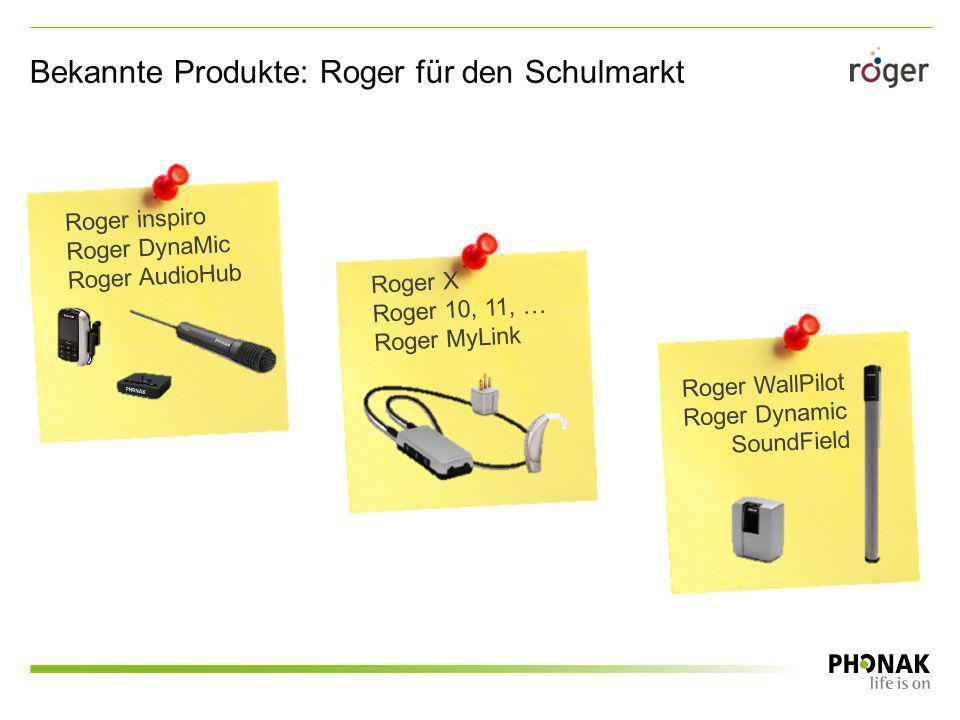 Bekannte Produkte: Roger für den Schulmarkt