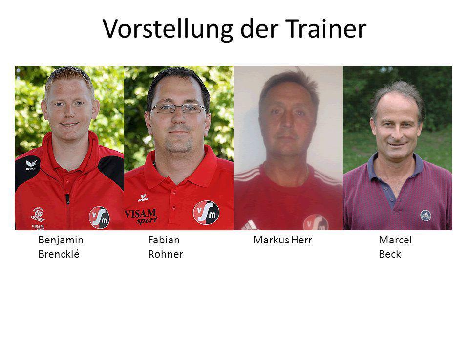 Vorstellung der Trainer