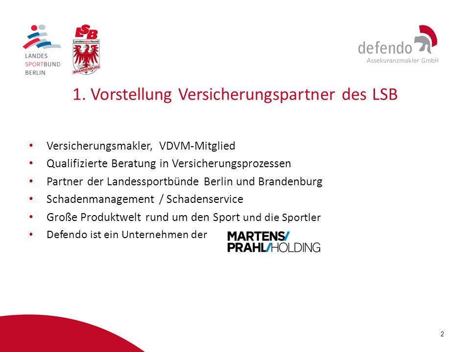 1. Vorstellung Versicherungspartner des LSB