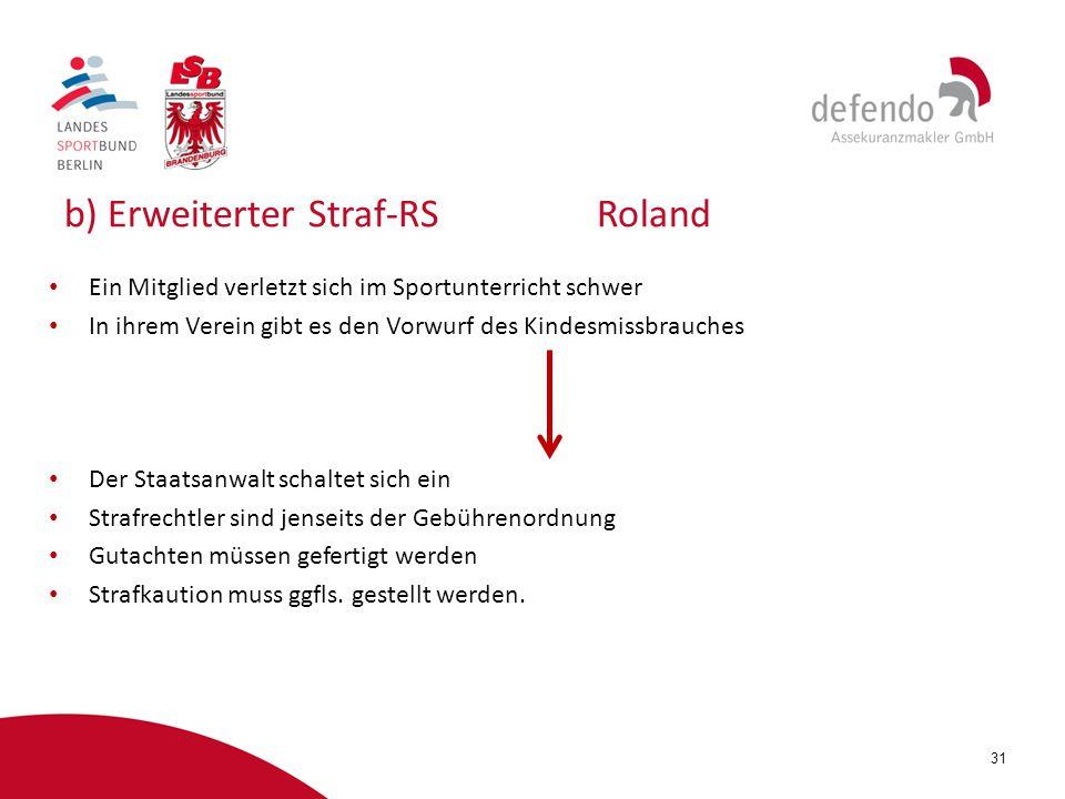 b) Erweiterter Straf-RS Roland