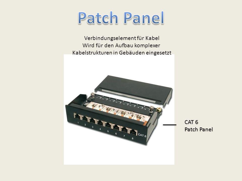 Patch Panel Verbindungselement für Kabel Wird für den Aufbau komplexer