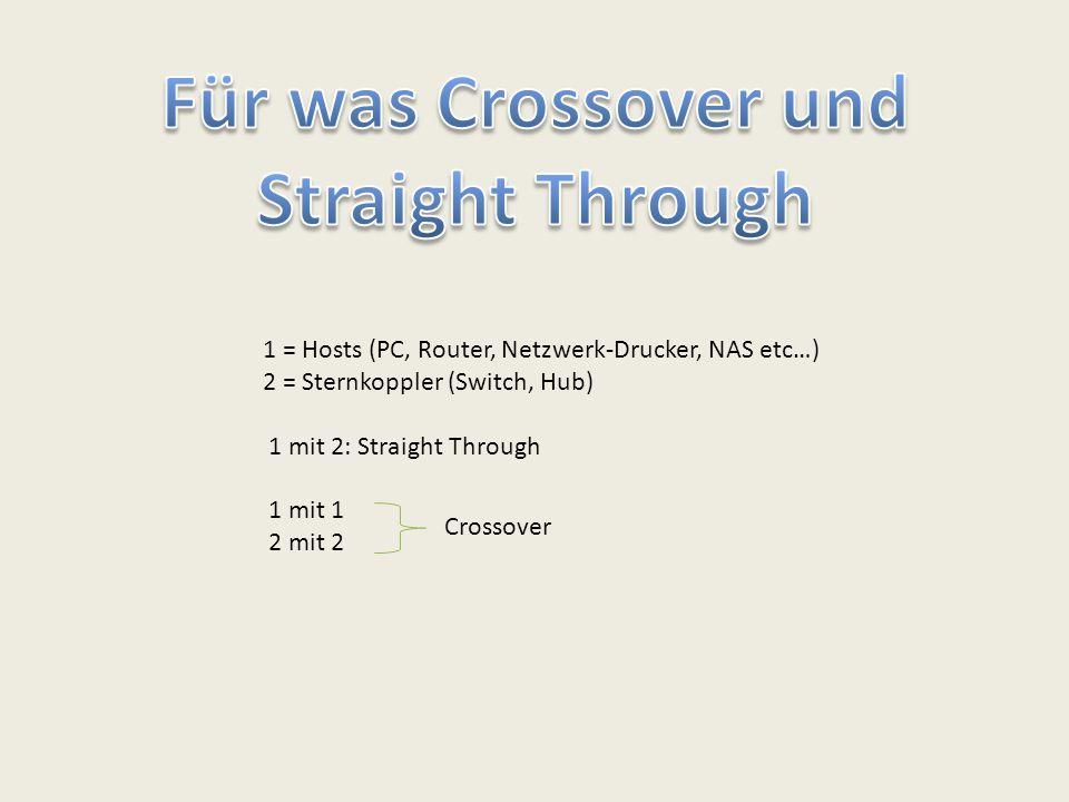 Für was Crossover und Straight Through