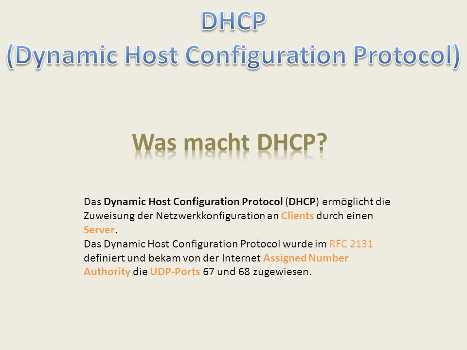 (Dynamic Host Configuration Protocol)