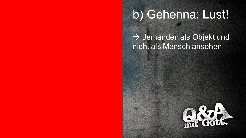 b) Gehenna: Lust! Gehenna: Lust