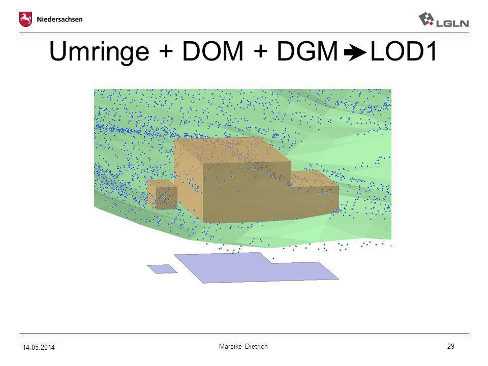 Umringe + DOM + DGM LOD1 14.05.2014 Mareike Dietrich