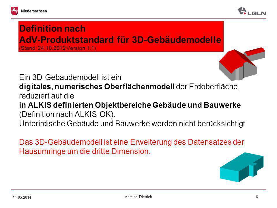 Definition nach AdV-Produktstandard für 3D-Gebäudemodelle (Stand: 24