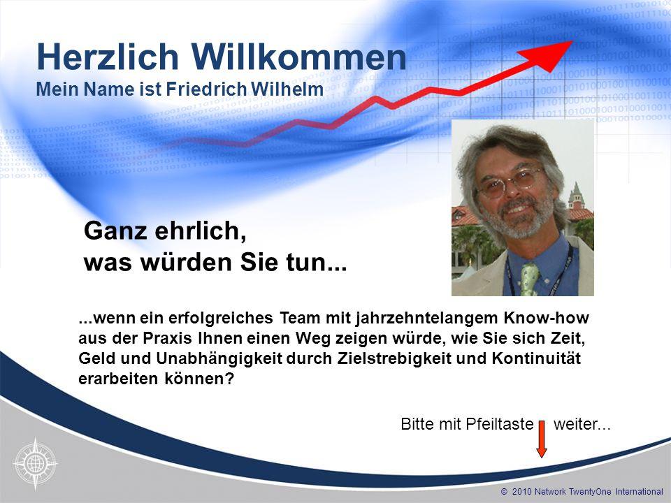 Herzlich Willkommen Mein Name ist Friedrich Wilhelm