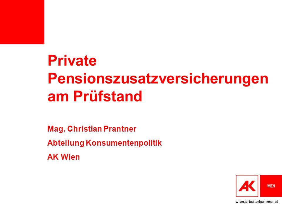 Private Pensionszusatzversicherungen am Prüfstand