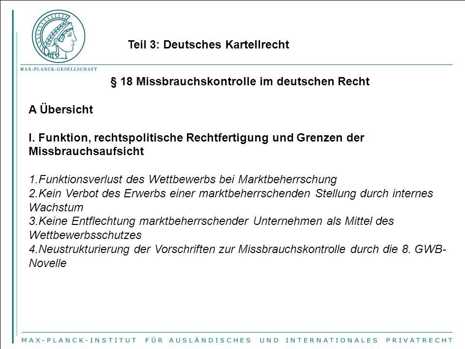 § 18 Missbrauchskontrolle im deutschen Recht
